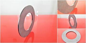 Obrázek Vyrovnávací podložka distanční ocel bagr rýpadlo stavebni stroj mm 70x125x1 spacer ausgleichsscheibe