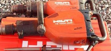 Obrázek HILTI TE1000-AVR TE1000 TE1000AVR bourací kladivo 12kg použité v dobrém stavu kufr příslušenství