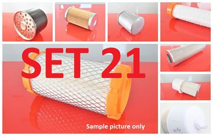 Picture of Filter set service for Caterpillar CAT 312 with engine Caterpillar 3054DI TA Set21