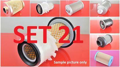 Obrázek sada filtrů pro Kubota KX008-3 s motorem Kubota D722 náhradní Set21