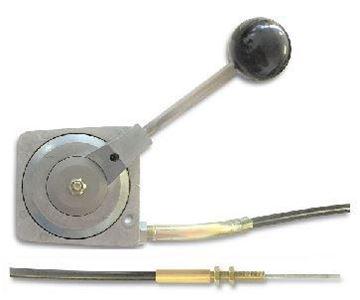 Obrázek páka páčka plynu typB pro Ammann DVH6010 Teleflex 1D80 délka 2,15m - gashebel bowden gaszug rüttelplatten throttle cables - jinak pro další stroje na vyžádání