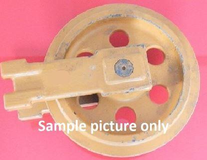 Bild von Idler Leitrad Spannrad inkl. seitlichen Schuhen / Führungen Gesamthöhe Rad 290/290mm fuer Bobcat X225 X320 X322 X322D