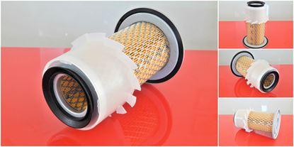 Obrázek vzduchový filtr do Fiat-Hitachi FH 35.2 motor Kubota filter filtre