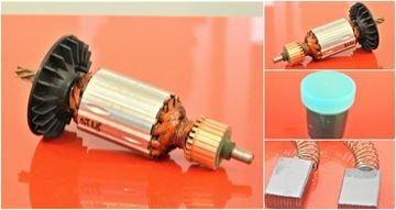 Obrázek kotva rotor armature HILTI ST18 ST 18 nahradí originál NEW TYPE a uhlíky - anker armadura armatura Reparatursatz Wartungssatz service repair kit