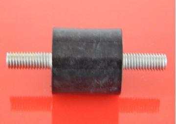 Obrázek silentblok 40x25 M8x23 pro vibrační deska pěch stavební stroj ad - Gummipuffer Silentblock 40x25 M8x23 beidseitig Aussengewinde suP