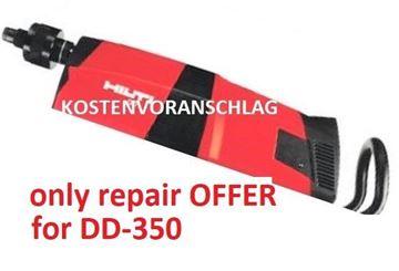 Obrázek cenová nabídka opravy vrtačky Hilti DD350 DD 350 DD-350 servis reparatur maintenance repair nabídka