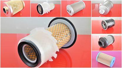Obrázek sada filtrů pro Kubota KX121-3 náhradní Set21 obsahuje vše filtry 7ks vzduchu paliva oleje hydrauliky