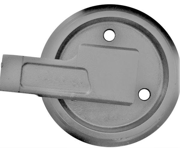 Picture of Rueda loca tensora idler con soportes - altura total de la rueda 232/270mm para Case CX16B CX18B Kobelco SK013 SK013-1 SK13SR Mini SK015 SK015-1 SK015R
