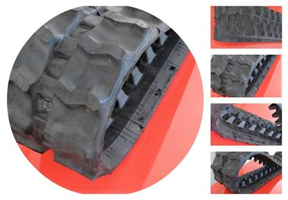 Obrázek Gumový pás pro bagr minibagr smykový nakladač 400x144x35 - 400x35x144
