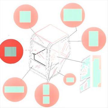 Obrázek přední horní sklo kabiny pro JCB 3CX SM 4C AWS 4CX super 4CN 214SM-4 214S AWS 215S AWS 217S AWS kvalita skleněná výplň suP