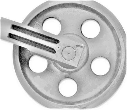 Image de Roue folle incl. supports - hauteur totale de la roue 375/418mm pour Yanmar VIO70 VIO75 VIO75A VIO75-2A VIO80 VIO80-1A VIO80U