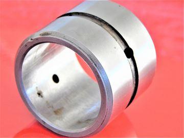 Obrázek ocelové pouzdro 76x90x80 mm vnitřní a vnější mazací drážka a mazací otvory OEM kvalita