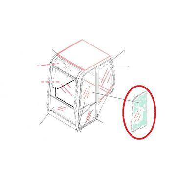 Imagen de puerta de cristal arriba vidrio de cabina para JCB 8030ZTS cristal de calidad