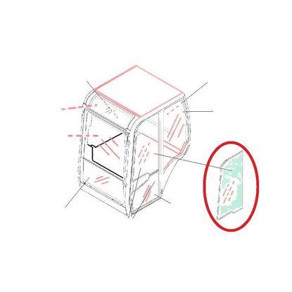 Bild von Türscheibe oben - Kabine Glas für JCB 8030ZTS Qualität Glasscheibe