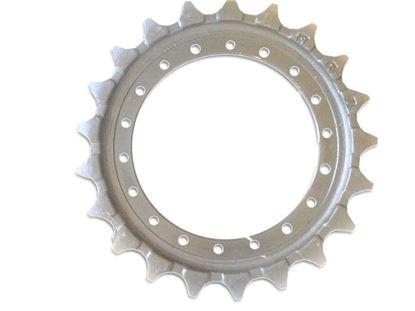 Image de pignon turas roue motrice 356/16/21/0/62 pour Hitachi EX100 EX110 EX120 ZX110 ZX120 ZX125 John Deere 110 120 490 490D 490E 493E ...