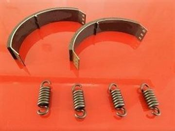 Picture of 2x pad carriers with 4x springs for Ammann ADS70 with engine Yanmar L40AE pads for clutch