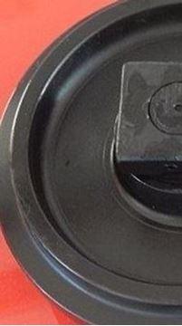 Imagen de Rueda loca tensora idler con soportes - altura total de la rueda 562/612mm para Liebherr R912 R932 HS832 HS933 Litronic