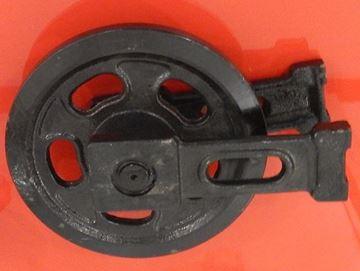 Obrázek vodící napínací kolo Idler vč. bočnic celková výška kola 282/282mm pro Yanmar B12 B17 B14 B15 YB121U YB151U B17-2 B17-2EX