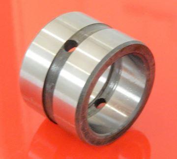 Obrázek 85x100x80 mm ocelové pouzdro - vnitřní mazací drážka / vnější mazací drážka / 2x mazací otvor - 50HRC