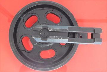 Bild von Idler Leitrad Spannrad inkl. seitlichen Schuhen / Führungen Gesamthöhe Rad 295/330mm für Yanmar VIO25 VIO25-3 VIO27-2 VIO30-2 VIO35-2 VIO35-3 VIO35-5 B25 B25V VIO33U VIO38U VIO20 VIO20-1 VIO20-2 VIO20-3 VIO30-3 VIO30 VIO30V SV20 VIO35 VIO20-4 VIO25-4 B19 SV22 VIO27-5 VIO27-3