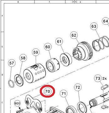 Obrázek rameno pružinové pro Hilti TE706AVR TE706-AVR
